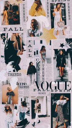 Fashion Collage - Fushion News Vogue Wallpaper, Fashion Wallpaper, Tumblr Wallpaper, Wallpaper Backgrounds, Wallpaper Quotes, Mode Collage, Aesthetic Collage, Collage Art, Collage Illustrations