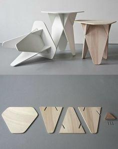 Diy Furniture Hacks, Folding Furniture, Cardboard Furniture, Modular Furniture, Furniture Projects, Cool Furniture, Furniture Design, Diy Wood Projects, Wood Design
