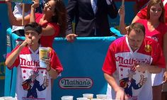 Joey Chestnut wins hotly anticipated hot dog eating contest rematch