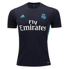 adidas Kids Real Madrid 17/18 Away Jersey Black - XL