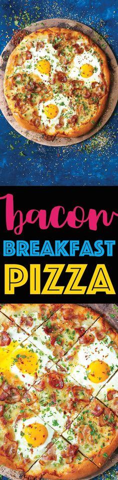 Bacon Breakfast Pizza @FoodBlogs