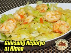 This is a very simple vegetable using cabbage and shrimps as the main ingredients. #GinisangRepolyo #Stir-FriedCabbage #Shrimps Fried Cabbage, Oyster Sauce, Vegetable Dishes, Filipino, Stir Fry, Oysters, Shrimp, Carrots, Fries