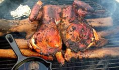 This is another picture of jerk chicken but on a barbecue. The barbecue is a very useful and popular tool for cooking in the carribean
