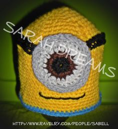 Ravelry: Minion Inspired Character Hat for Kids pattern by Sarah Bell ~ free pattern