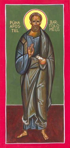 Bartholomew by Fr. Orthodox Icons, Catholic, Saints, Portraits, Art, Head Shots, Portrait Photography, Portrait Paintings, Headshot Photography