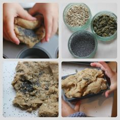 The Imagination Tree: Wholegrain Play Dough Recipe and Bakery Role-Play growing-creative-kids Playdough Activities, Activities For Kids, Preschool Ideas, Cooked Playdough, Imagination Tree, Dramatic Play, New Flavour, Dough Recipe, Cooking With Kids