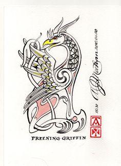 Griffin Preening