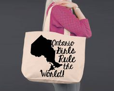 Ontario | Personalized Canvas Tote Bag
