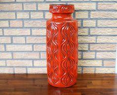 Scheurich 285-53 XXL burnt orange vase by VintageDesignVault on Etsy