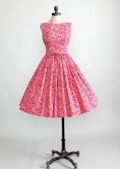 Pretty pink vintage dress.