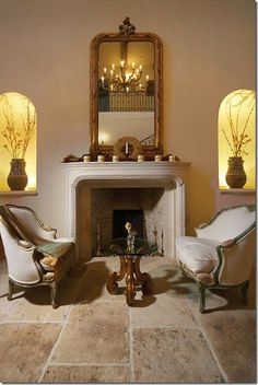 La Bastide, A French Beauty, California Style Home Living Room, Living Room Decor, Living Spaces, Small Sitting Areas, Tuscan Design, Tuscan Style, Mediterranean Home Decor, California Style, Classic House