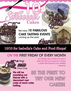 Meet our First Friday, My Honey, Cake Tasting, Special Occasion, Meet, Sugar, Food, Essen, Meals