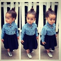 Adorable little fashionista..i have an outfit like hers haha. Cute Outfit of the Day: May 22, 2012 : Lucky Magazine
