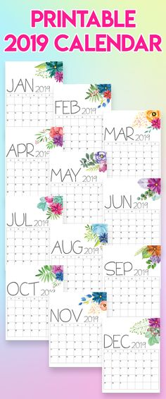 171 Best Calendars Planners Images On Pinterest In 2019 Free