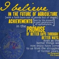 FFA creed which I had trouble memorizing lol