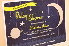 OVER THE MOON Space Themed Baby Shower by ChikPeaDesigns on Etsy