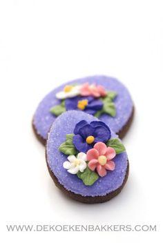 easter cookies, drop flowers