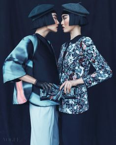 stylekorea:    Hong Ji Soo & Hwang Gippeum for Vogue Korea...