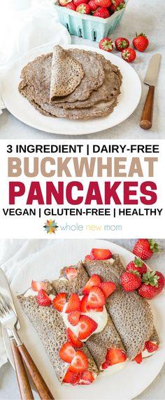 3 Ingredient Buckwheat Pancakes / Buckwheat Galettes