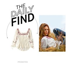 """""""Daily Find: AEO Embroidered Peasant Shirt"""" by polyvore-editorial ❤ liked on Polyvore"""