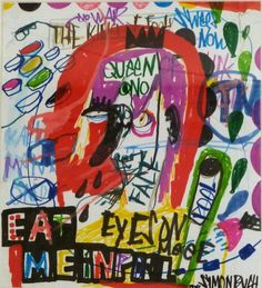 Eat me - Artist, Painter, Illustrator, Simon Buch, Illustration, Abstract, Colorful, Pop Art, Street Art, : www.artunika.com / www.artunika.dk