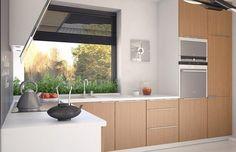 Umbra 88.00 m2   Projekt domu tradycyjnego   projekty domów   kreoDOM.pl Ideas Geniales, House, Kitchen Cabinets, Windows, Outdoor Decor, Furniture, Home Decor, Grey Walls, Full Bath