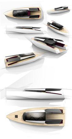 动力游艇- Powerboat concept that take advantage from Asian insights to create new powerboat design. Yacht Design, Boat Design, Cool Boats, Used Boats, Yacht Luxury, Luxury Boats, Boat Sketch, Build Your Own Boat, Yacht Boat