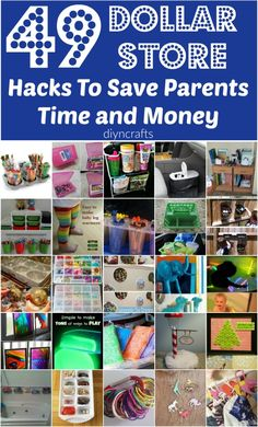 49 Dollar Store Hacks To Save Parents Time and Money - Really good ideas!!
