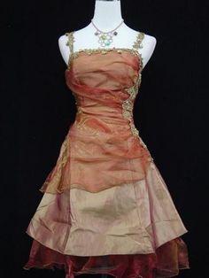 A Linie Brautkleid Abendkleid Gold