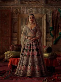 2019 Sabyasachi Charbagh Bridal Lehenga Collection - Frugal2Fab Indian Bridal Outfits, Indian Bridal Fashion, Indian Bridal Wear, Dress Indian Style, Indian Dresses, Indian Clothes, Indian Aesthetic, Bridal Lehenga Collection, Nikkah Dress