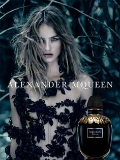 Alexander McQueen Bloom At Night Fragrance 2016 Photography Paolo Roversi Model Maartje Verhoef