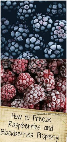Enjoy raspberries and blackberries as part of your Healthiest Way of Eating even when they are off season...