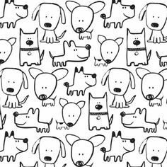 PuppyLove big dogs by RosesareRed Doodle Drawings, Easy Drawings, Animal Drawings, Doodle Art, Coloring Books, Coloring Pages, Animal Doodles, Sketch Notes, Cute Doodles