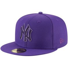 New York Yankees New Era League Pop 59FIFTY Fitted Hat - Purple 6e5b9a07a42