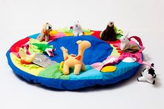 Manta con animales para bebés
