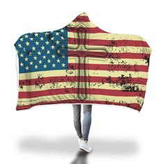 Show your faith in God and in your country with awesome beautiful American flag cross hooded blanket. This hooded blanket is the perfect christmas gift because it can be used for so many things!