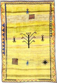 6' 4 x 9' 7 Yellow Shiraz-Gabbeh Persian Rugs. $2977.00. This Authentic Persian Shiraz-Gabbeh rug is Hand Knotted of 100% Natural Wool and has 80 knots per square inch.