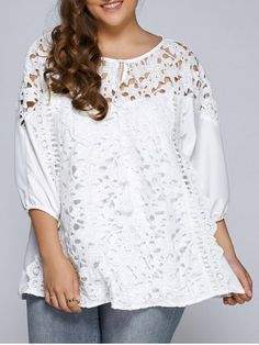 GET $50 NOW | Join RoseGal: Get YOUR $50 NOW!http://www.rosegal.com/plus-size-tops/hollow-out-patchwork-plus-size-801784.html?seid=4729140rg801784
