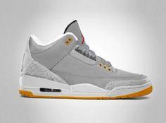 NIKE AIR JORDAN III RETRO NEW SLATE/WOLF GREY-COOL GREY-TEAM ORANGE #sneaker