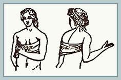 Ropa interior femenina de las romanas. Eran fabricada en lino o en cuero. Estas prendas, básicamente eran las mismas que utilizaron sus antecesoras las griegas. Así que, podemos decir que las mujeres de Roma siguieron la moda íntima  de la Grecia clásica.