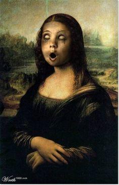 """Monalisa ou """"La Gioconda"""" ou em francês, """"La Joconde"""", criada pelo artista Leonardo da Vinci. Ja foi recriada por vários artistas, abaixo vo..."""