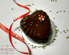3D heart milk chocolate with coconut filling...Bounty style