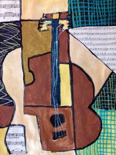 Artsonia is a kids art museum where young artists and students display their art for other kids worldwide to view. This gallery displays schools and student art projects in our museum and offer exciting lesson plan art project ideas. Cubist Paintings, Cubist Art, Classroom Art Projects, Art Classroom, Classroom Activities, 2nd Grade Art, Fourth Grade, Third Grade, Picasso Art