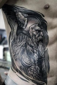 Discover a warrior of wisdom, strength and power with the top 57 best Odin tattoo designs. Viking Compass Tattoo, Viking Tattoo Sleeve, Viking Tattoo Symbol, Norse Tattoo, Viking Tattoo Design, Viking Tattoos, Neck Tattoo For Guys, Cool Tattoos For Guys, Warrior Tattoos