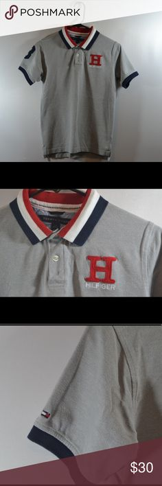"""Tommy Hilfiger Polo Shirt Size L 16/18 Tommy Hilfiger Polo Shirt Size L 16/18. Measured in inches laid flat Chest:16.5"""",Length:22.5"""",Sleeve:7"""" Tommy Hilfiger Tops Button Down Shirts"""