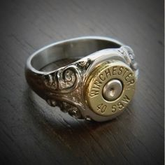 Women's Etched Bullet Ring is an Excellent Choice! High Quality Genuine Solid Stainless Steel Bullet Ring with detailed etched scrolls. Great weight, Solid, the Perfect Bullet Gift. Bullet Ring, Bullet Jewelry, Jewelry Box, Jewelery, Silver Jewelry, Jewelry Making, Silver Rings, Ammo Jewelry, Diy Jewelry