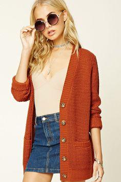 Boxy V-Neck Sweater Cardigan
