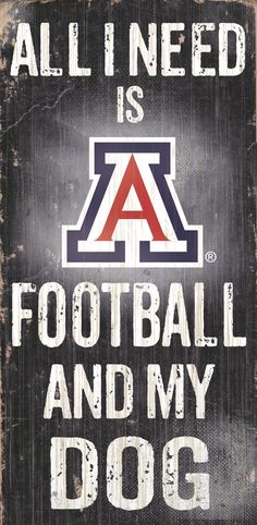 ~Arizona Wildcats Wood Sign - Football and Dog 6x12~backorder