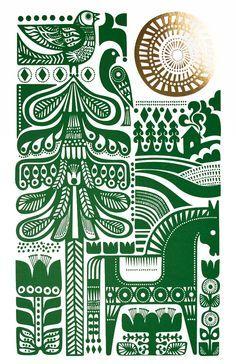 Sanna Annukka Illustration – the boldness of scandinavian folk art/revival is so suited to tattooage, imo!
