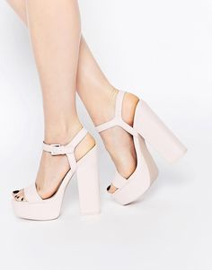 ASOS   ASOS HIT THE JACKPOT Platform Heeled Sandals at ASOS